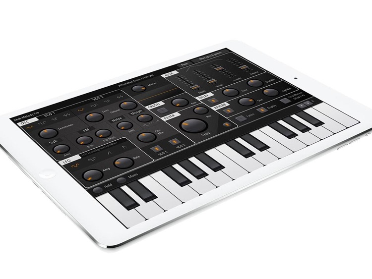 Midi Melody Pro: Full-featured iPad synthesizer screenshot-3