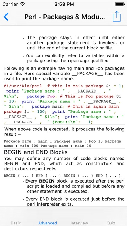 Tutorial of Perl