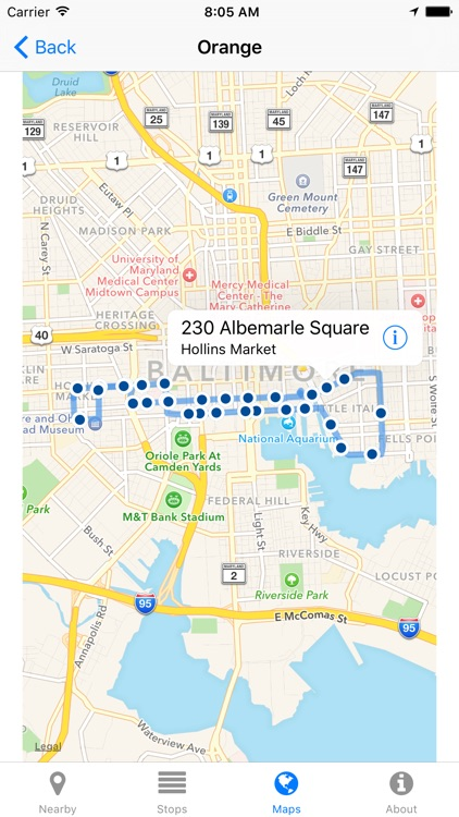 Charm City Circulator Now - Real-time Transit Arrivals screenshot-3