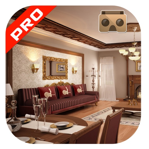 Vr visit lavish living room 3d view pro by coding squares for Living room 3d view