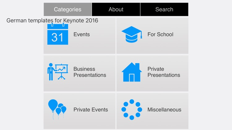 German Templates for Keynote 2016