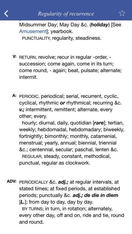 English Thesaurus: general ideas classified screenshot-4
