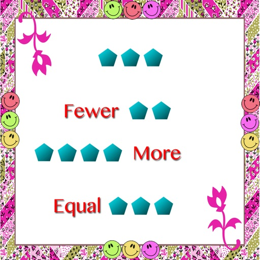 Fewer,more and equal