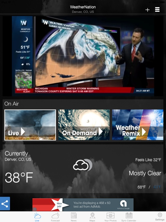 "WeatherNation Free ""for iPad"""