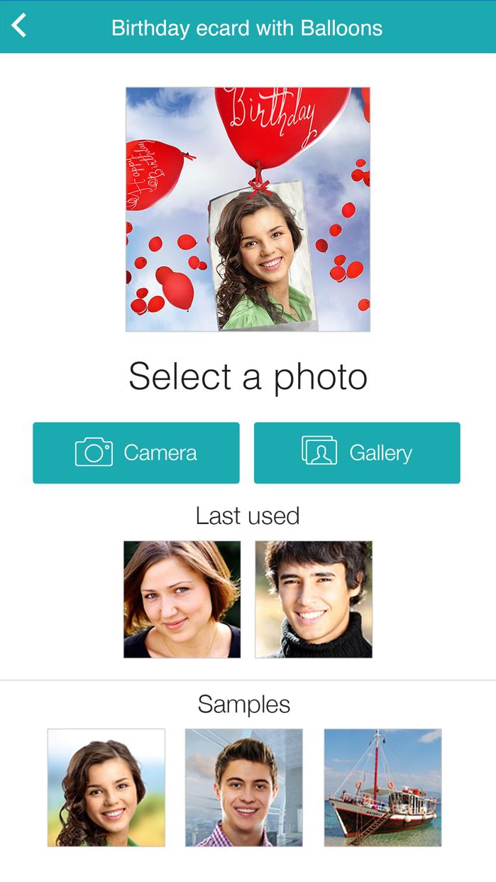 Birthday Cards Free: happy birthday photo frame, gift cards & invitation maker Screenshot