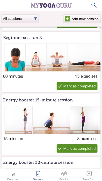 My Yoga Guru: yoga exercises for fitness, well-being and relaxation screenshot-3