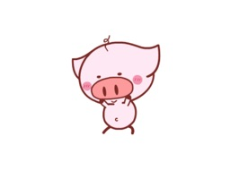 Nero piglet animated stickers pack
