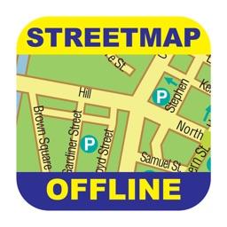Detroit Offline Street Map