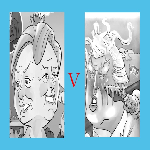 Trump vs Clinton Adult Coloring Electoral Vote 2016 icon