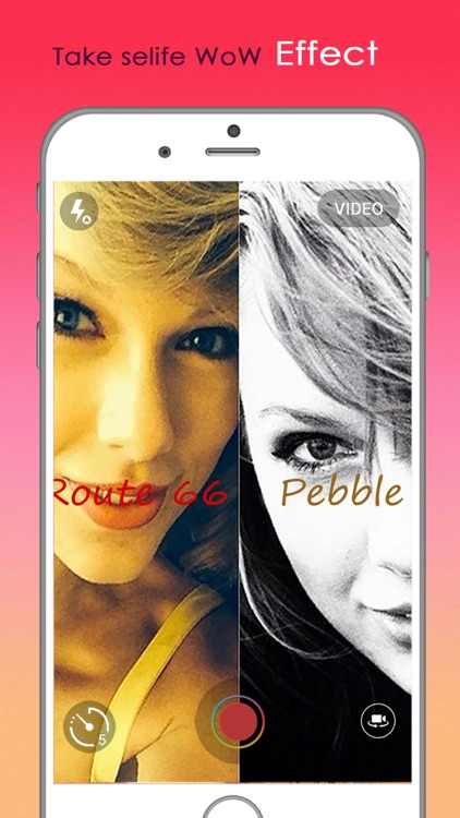 Selfie Shot : gif maker and video maker with best filters, effects and countdown timer selfie screenshot-4
