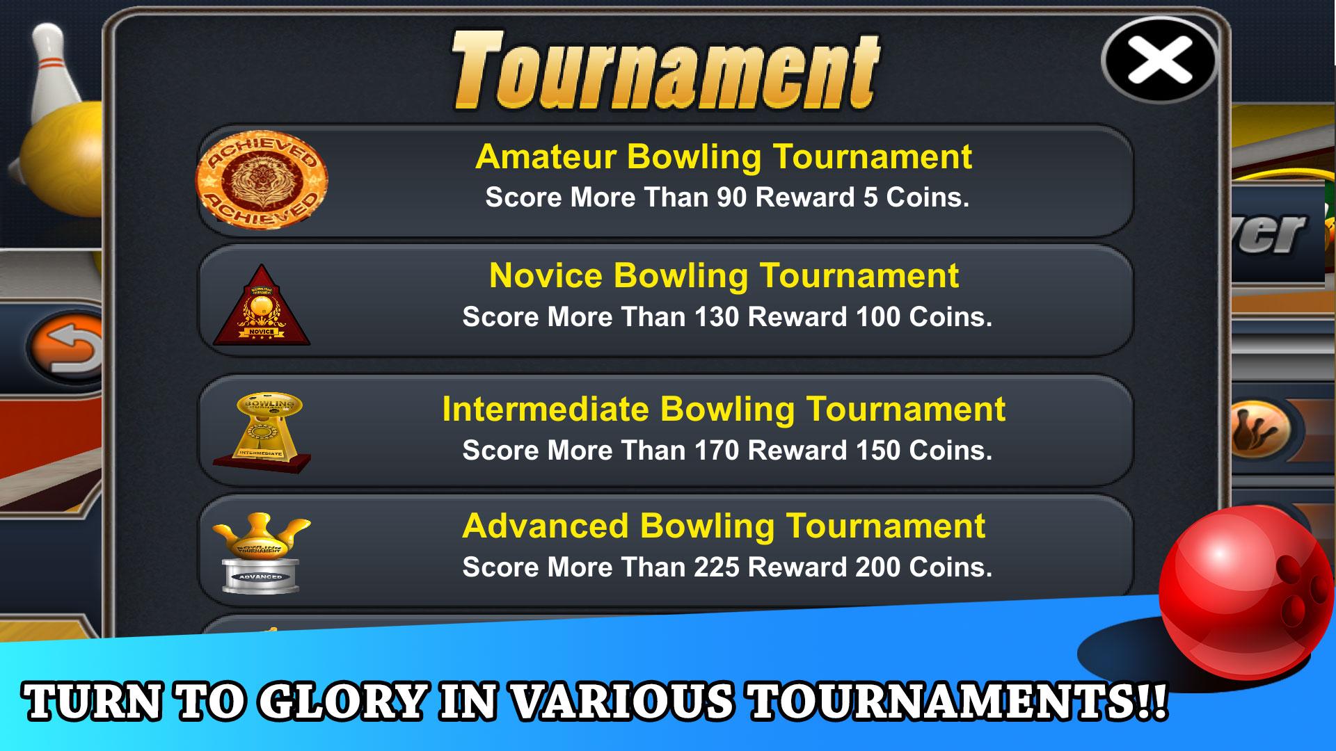 Pocket Bowling 3D for TV screenshot 1