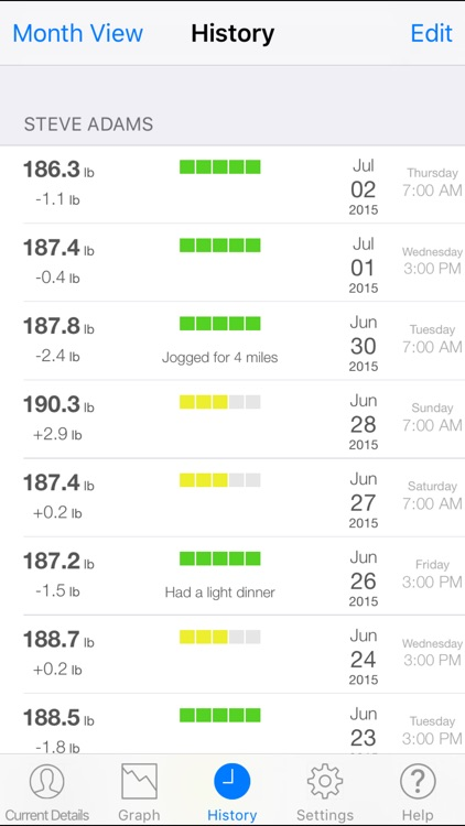 Monitor Your Weight screenshot-2