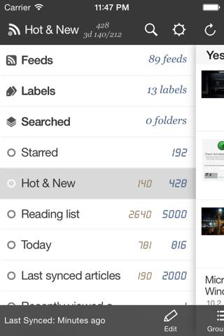 RssBook Lite - náhled