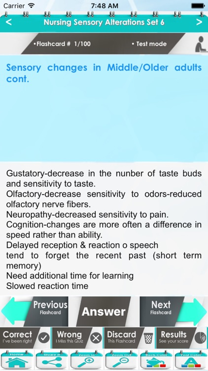 Nursing Sensory Alterations 2000 Exam Study Notes screenshot-4