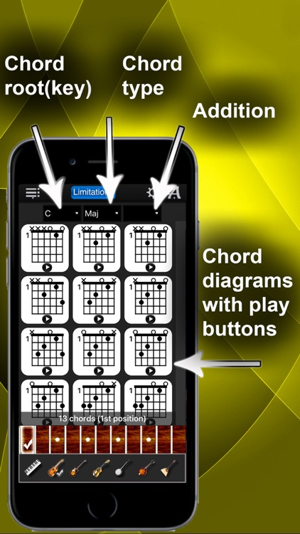 Chords Compass Lite: find piano chords and more!