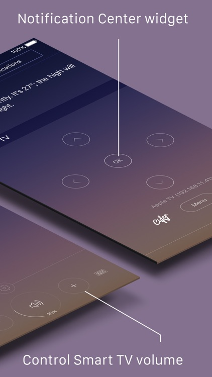 CiderTV Pro: the best remote app with Smart TV volume control for iPhone  and iPad by WAYD LLC