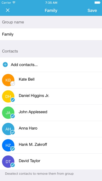 Group Text Pro : SMS & Email 2 Groups of Contacts screenshot-4