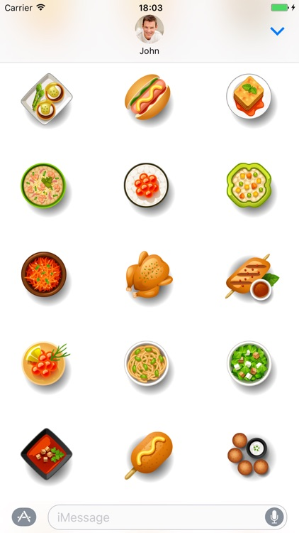 Dishes food - Stickers for iMessage screenshot-4