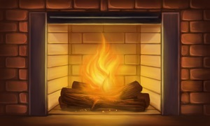 Fireplace Wallpaper - Interactive Flame