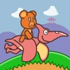 小熊快跑:飞龙骑手 - 6岁儿童的免费恐龙世界游戏