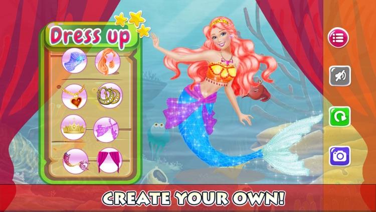 Dress Up Fashion Designer The Princess Games For Mermaid By Thanatrach Klaikaew