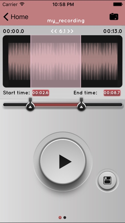 a MP3 Cutter For iMovie Free screenshot-1