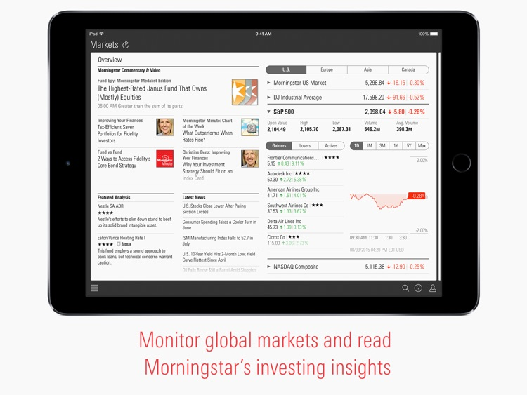 Morningstar for iPad screenshot-0