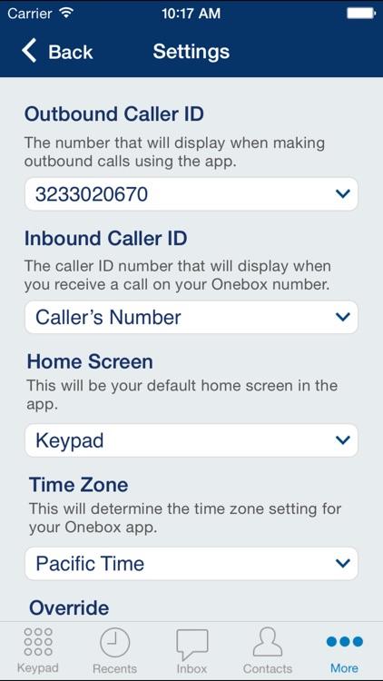 Onebox® business phone app & virtual receptionist screenshot-3