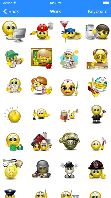 Animated Emojis - Emoji 3D - SMS Smiley Faces Sticker - FREE screenshot-1