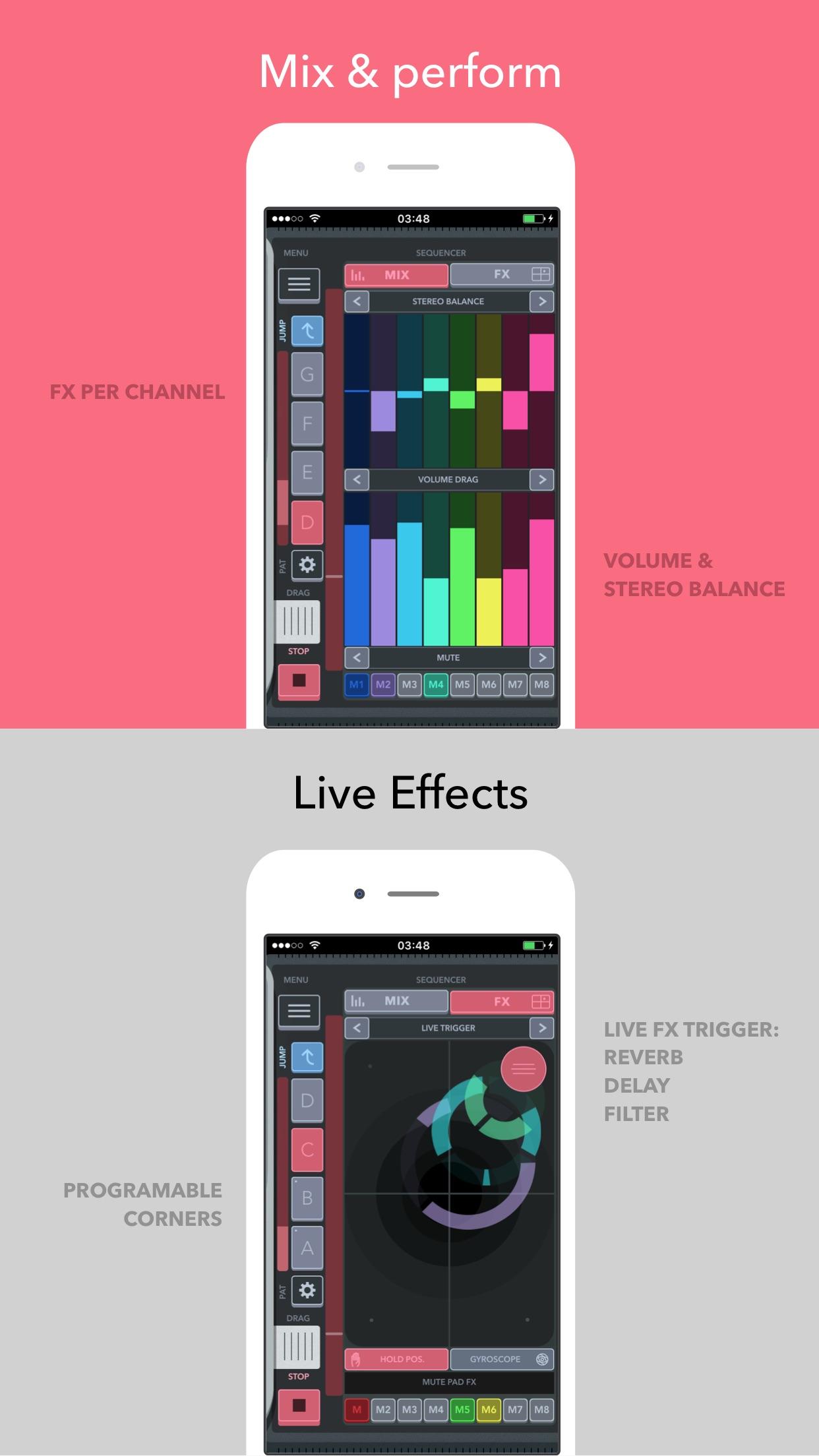 Screenshot do app FingerBeat