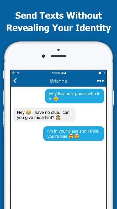 Secret Text Free Anonymous Texting & Messages App Screenshot