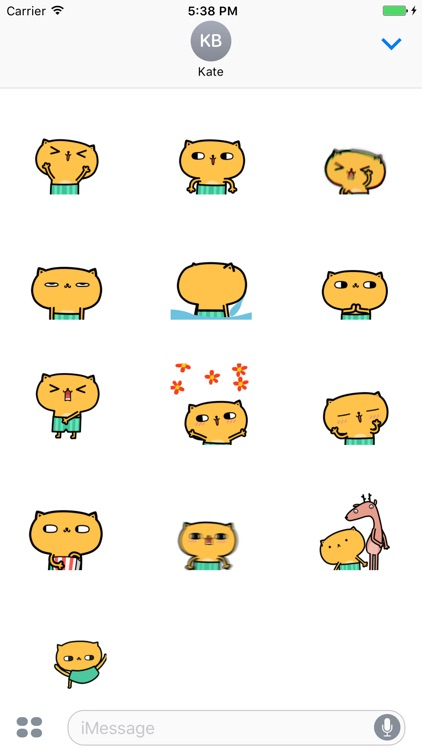 Animated Pam Cat stickers pack