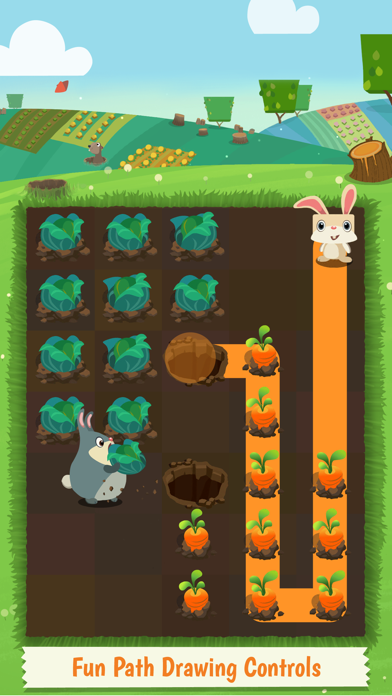 Patchmania KIDS - A Puzzle About Bunny Revenge! screenshot one