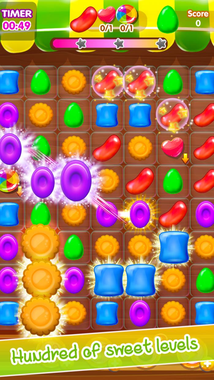Crafty Jelly Gem: Match3 Candy Screenshot