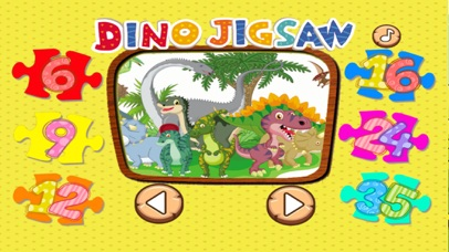 Dinosaur Puzzle Jigsaw HD Game For Toddlers & Kids screenshot three