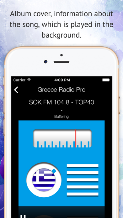 Greece Live Radio Pro screenshot two