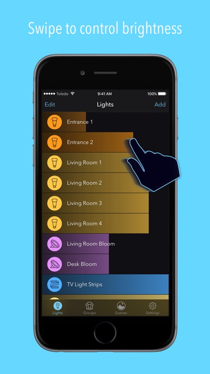 Huemote – A Fast Remote for Your Philips Hue Lights screenshot-1
