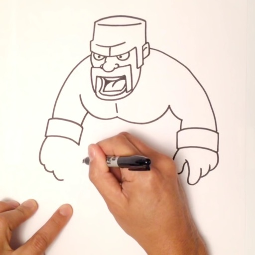 how to draw clash of clans characters