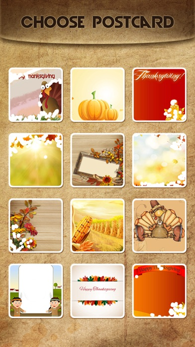 Holiday Greeting Cards FREE - Mail Thank You eCards & Send Wishes for American Thanksgiving Day screenshot three