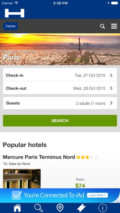 París Hoteles + Compara y Reserva de hotel para esta noche con el mapa y viajes turísticosCaptura de pantalla de1