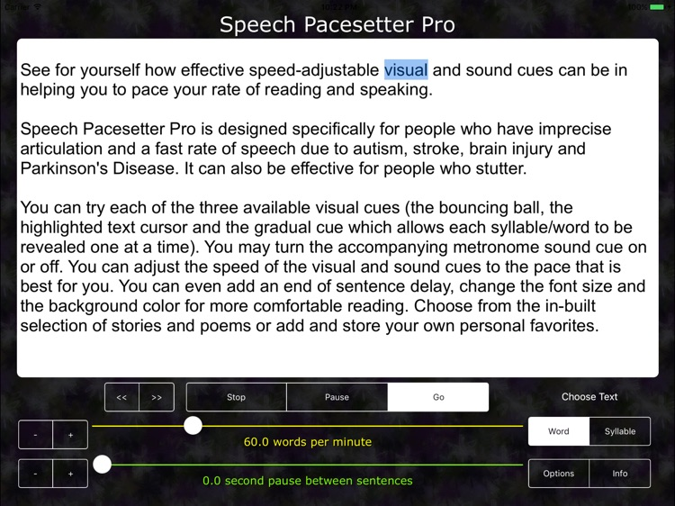 Speech Pacesetter PRO - autism aphasia dysarthria