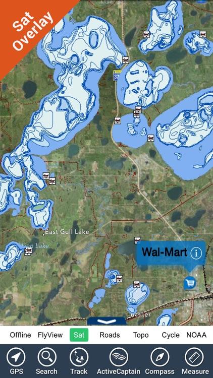 Fort Peck lake map - Montana GPS fishing charts