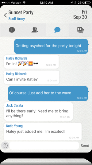 ‎Wave - The Social Network For Events Screenshot
