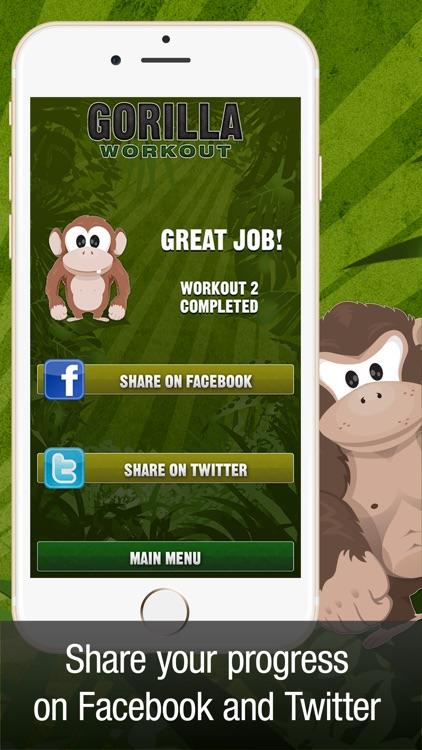 Gorilla Workout: Bodyweight Fitness Program screenshot-3