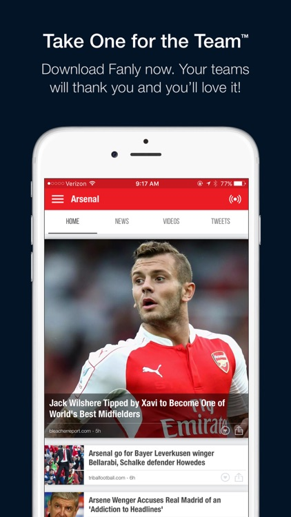 Fanly - Your Sports News Feed screenshot-4