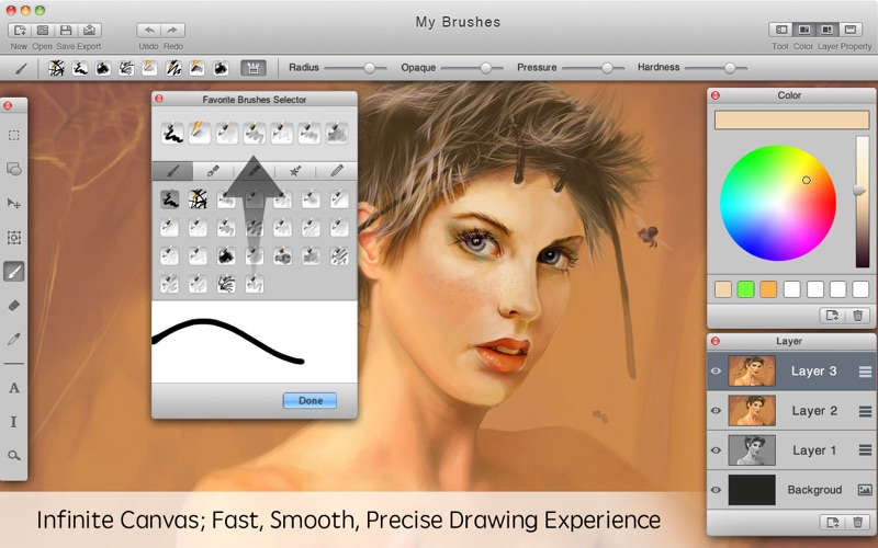Screenshot #1 for Mybrushes-Sketch,Paint,Design