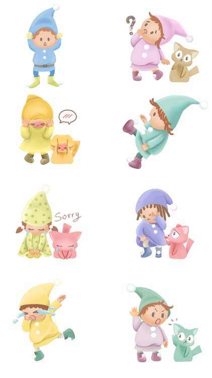 Pommin and the Kitty Gang Stickers for Messages screenshot-3