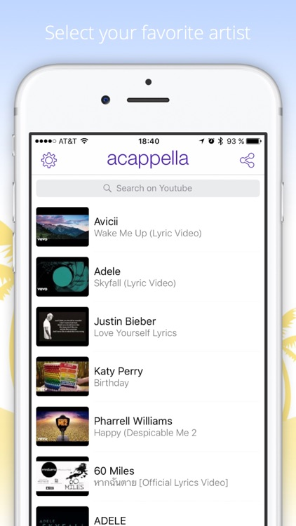 Acappella - your music video chat -