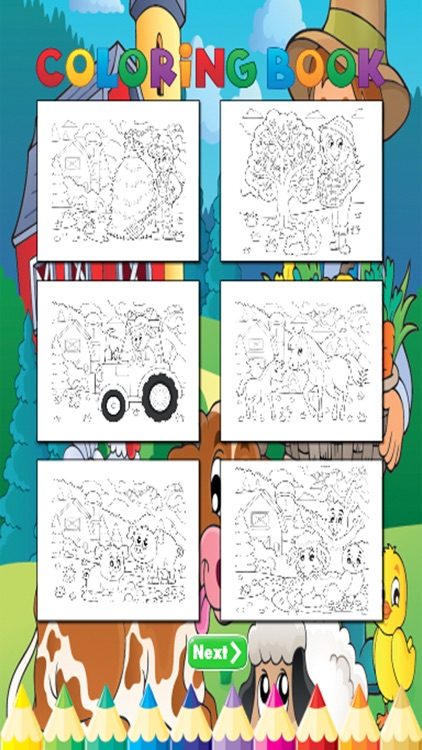 Animal Farm Coloring Book - for Kids