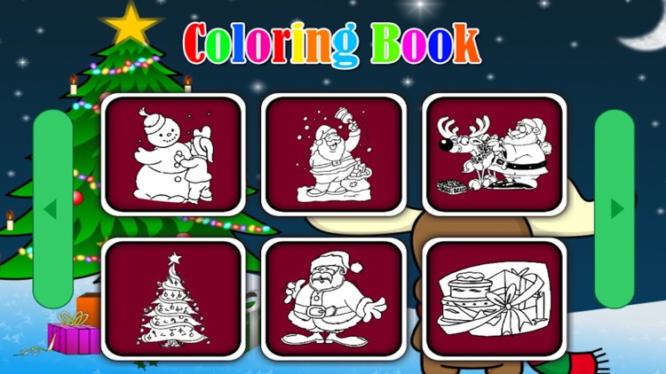 Santa claus markers and Christmas coloring games